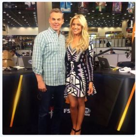 Kristine and Colin in Fox Sports 1