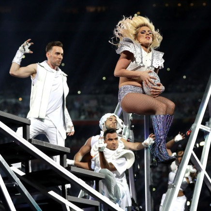 HOUSTON, TX - FEBRUARY 05: Lady Gaga performs during the Pepsi Zero Sugar Super Bowl 51 Halftime Show at NRG Stadium on February 5, 2017 in Houston, Texas. (Photo by Ronald Martinez/Getty Images)
